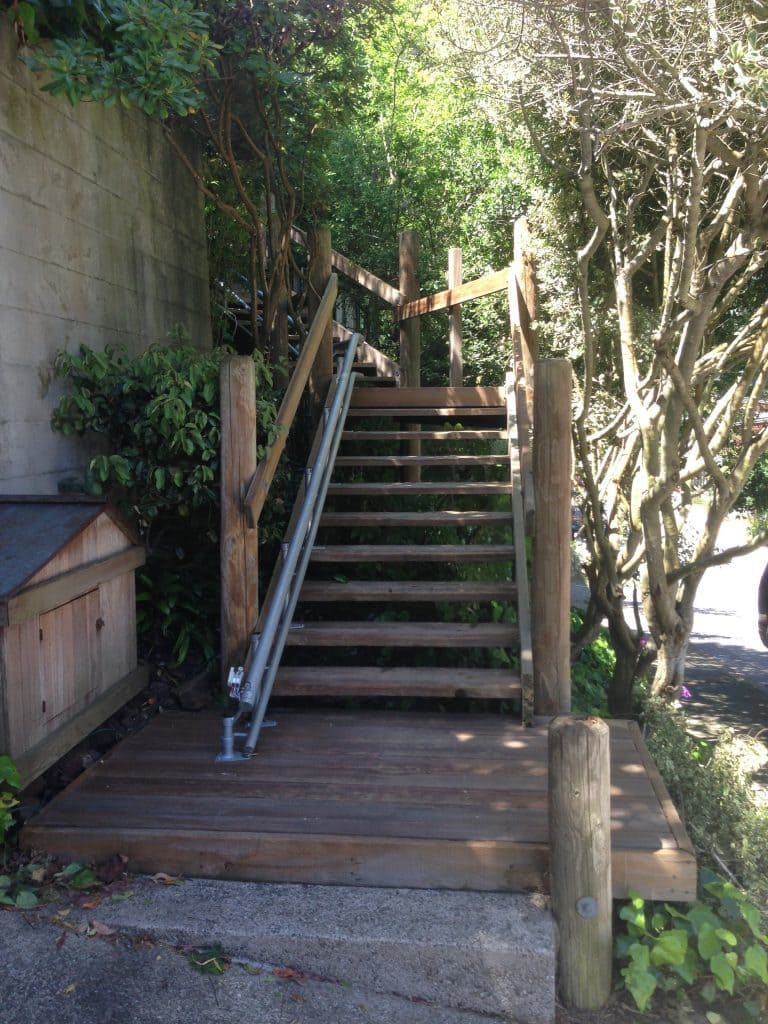 Outdoor Curved Stair Lift San Francisco