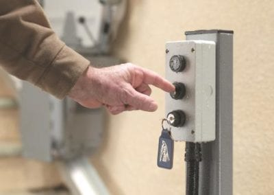 Outside Stairlift Controls
