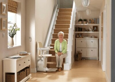 Stannah West Coast Siena Straight Stairlift Model Seated